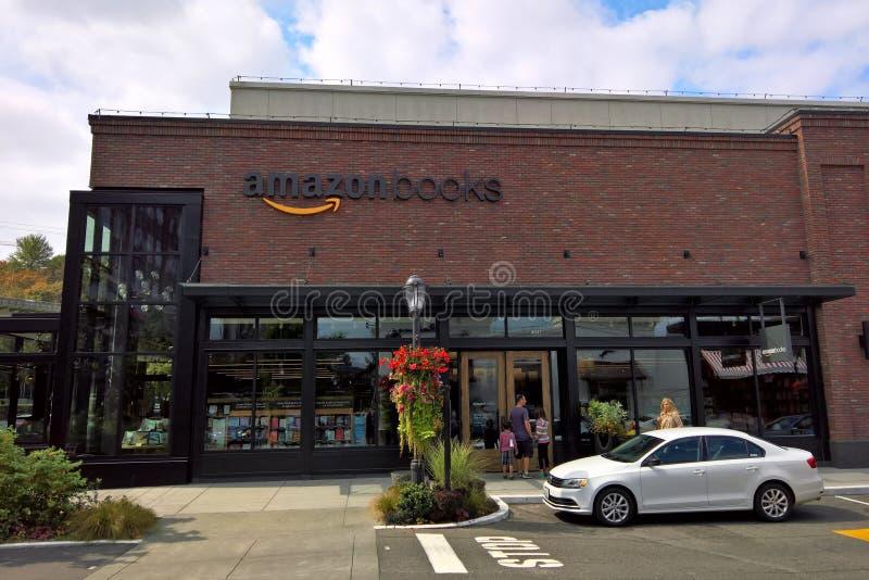 Loja de livros das Amazonas, Seattle, WA fotos de stock