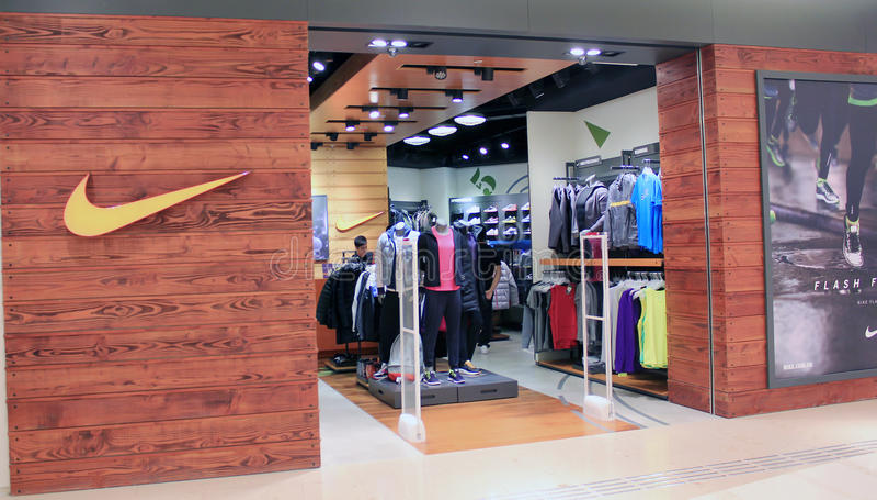 Loja de Nike em Hong Kong imagens de stock royalty free