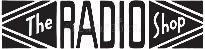 A loja de rádio ilustração stock
