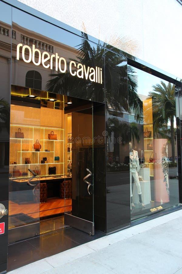 Loja de Roberto Cavalli fotos de stock royalty free