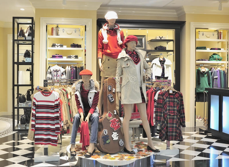 Loja de roupa da forma imagem de stock