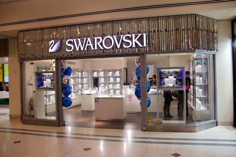 Loja de Swarovski fotos de stock