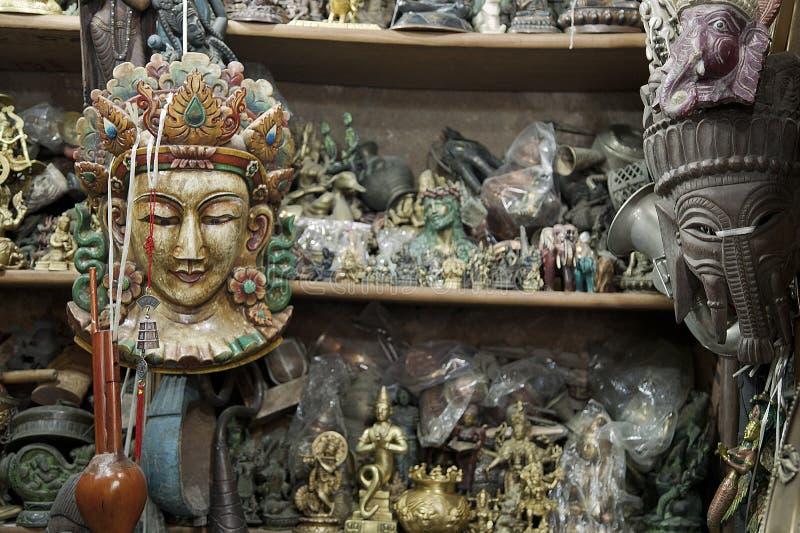Loja de Tibetian em Deli foto de stock royalty free