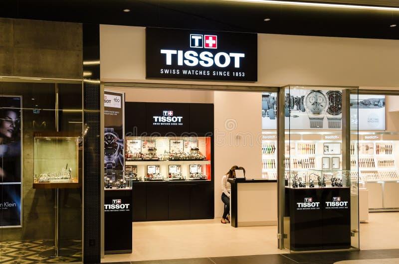 Loja de Tissot imagens de stock royalty free