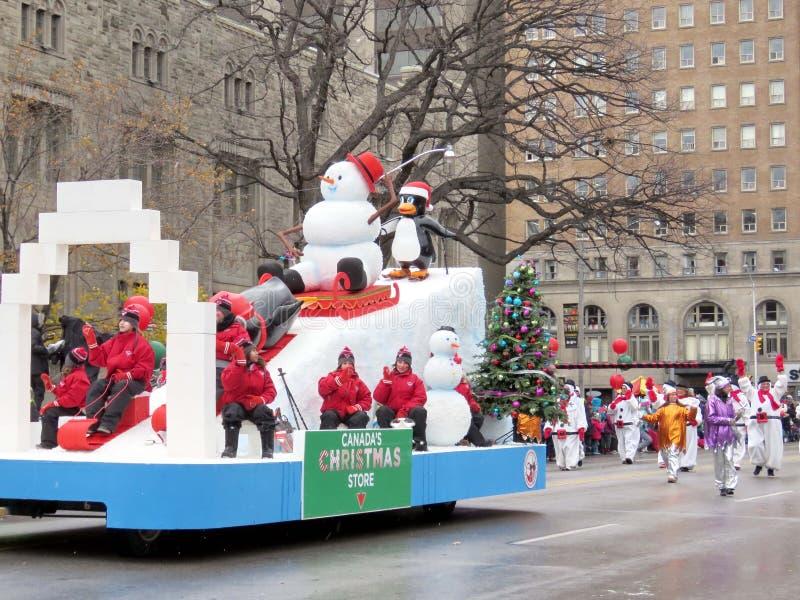 Loja 2016 de Toronto Santa Claus Parade Christmas imagem de stock royalty free