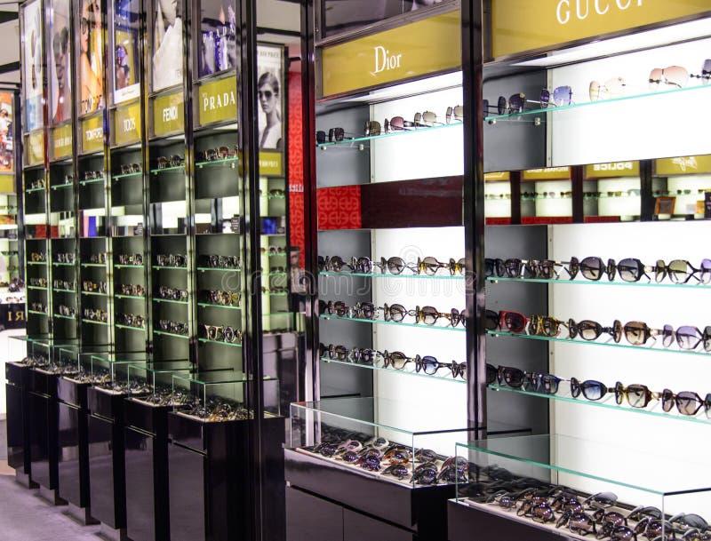 Loja de vidro marcada fotografia de stock royalty free