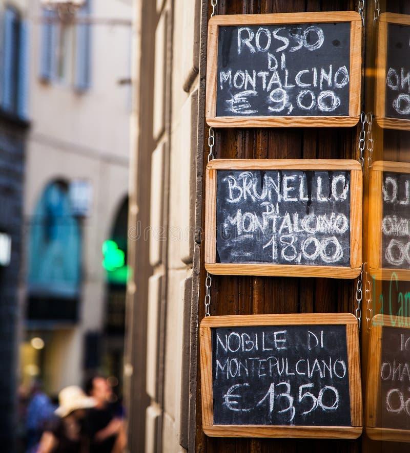 Loja de vinho foto de stock