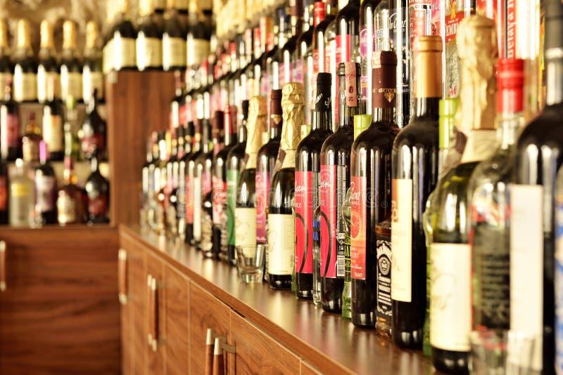 Loja de vinho imagens de stock