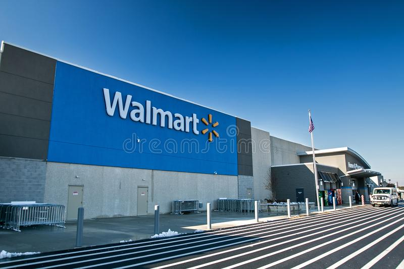 Loja de Walmart em NJ fotos de stock