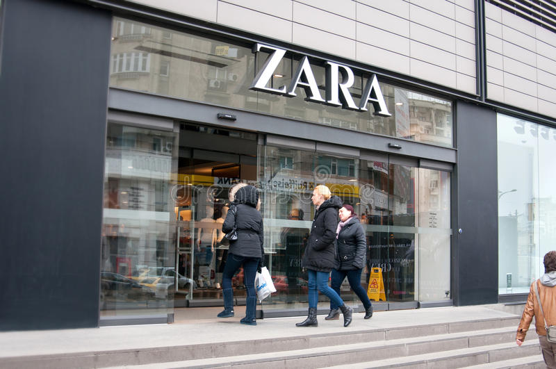 Loja de Zara foto de stock royalty free
