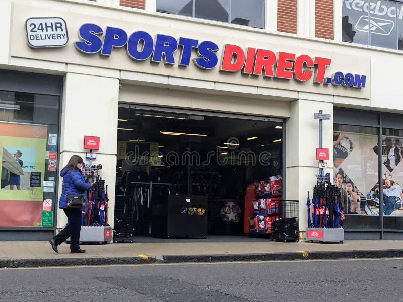 Loja direta dos esportes em Londres imagem de stock