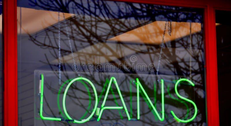 Loja do avanço do dinheiro do dinheiro do empréstimo imagens de stock