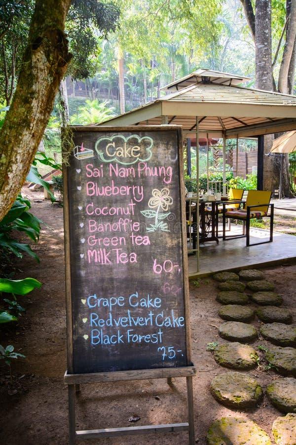 Loja do café & do Bekery do menu imagens de stock