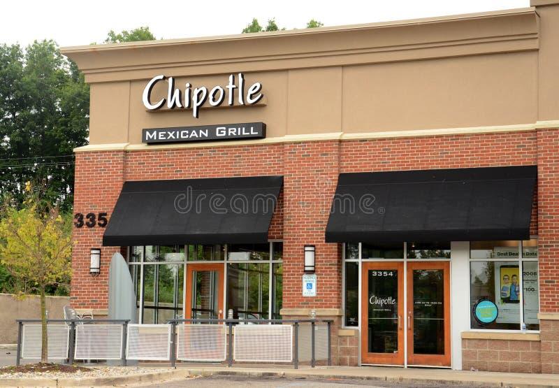 Loja do Chipotle em Ann Arbor imagem de stock