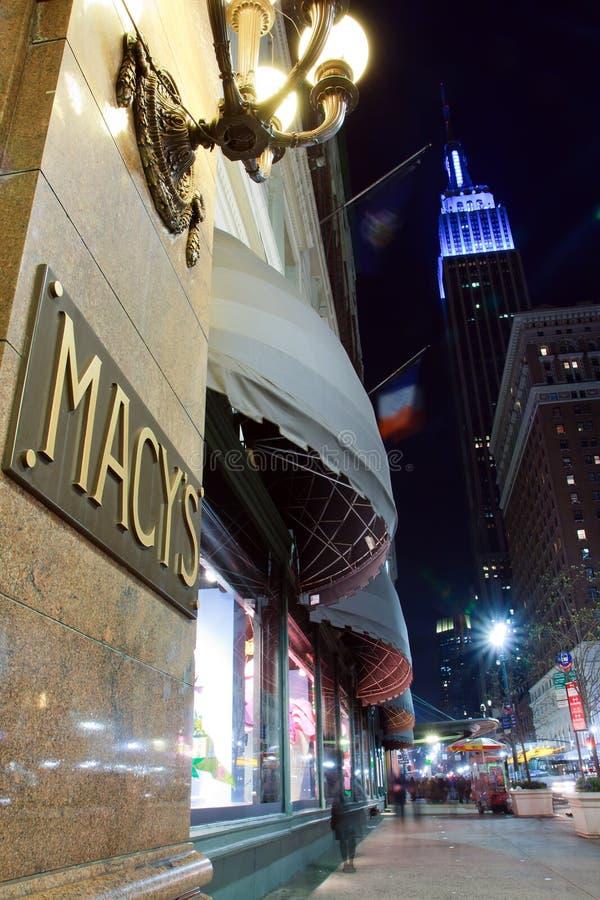 Loja do Empire State Building e do Macy. fotos de stock royalty free
