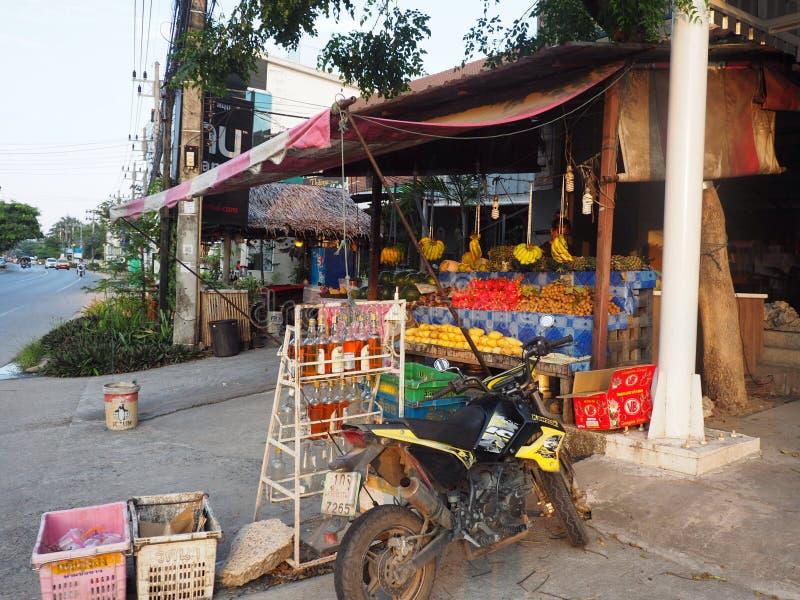 Loja do fruto, Koh Samui, Tailândia foto de stock