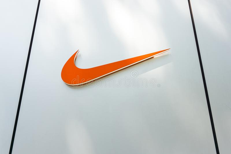 Loja do harajuku de Nike foto de stock