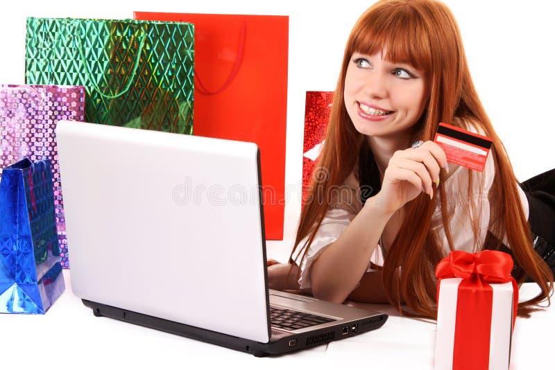 Loja do Internet fotografia de stock