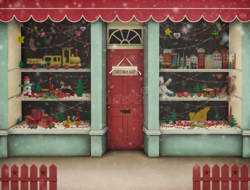Loja do Natal. ilustração do vetor