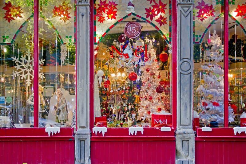 Loja do Natal do presente. foto de stock
