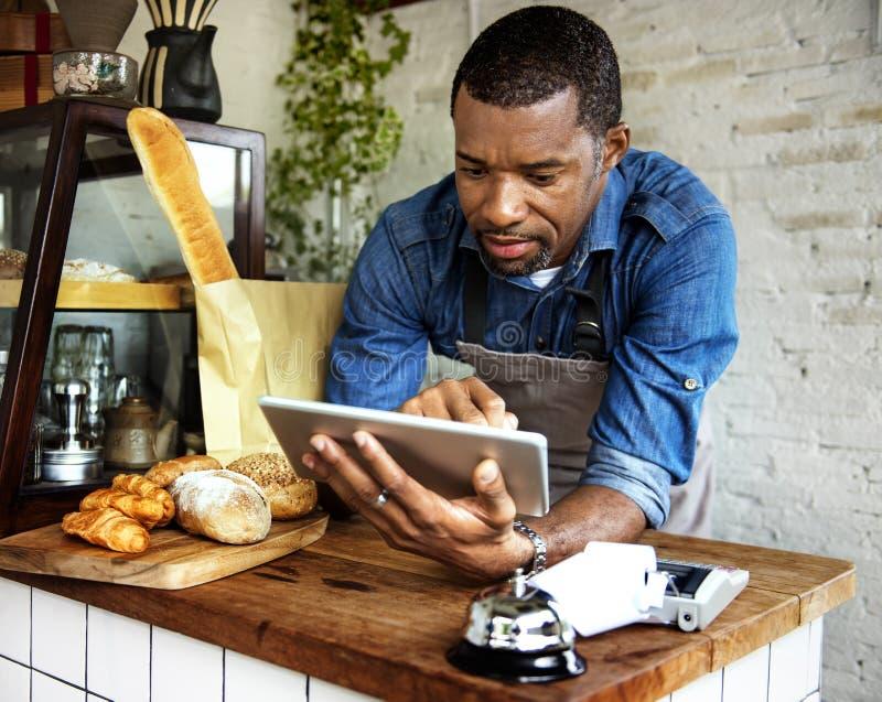 A loja do pão coze a padaria da farinha da massa imagem de stock royalty free