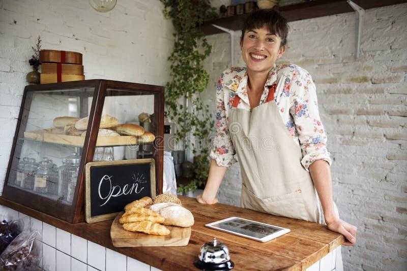 A loja do pão coze a padaria da farinha da massa foto de stock royalty free