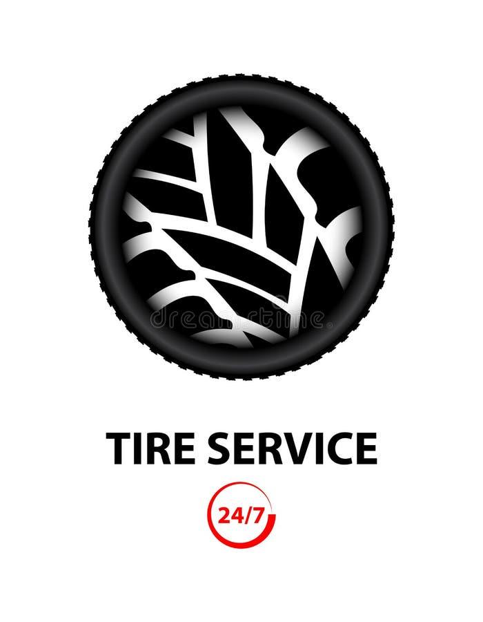 Loja do pneu ilustração stock