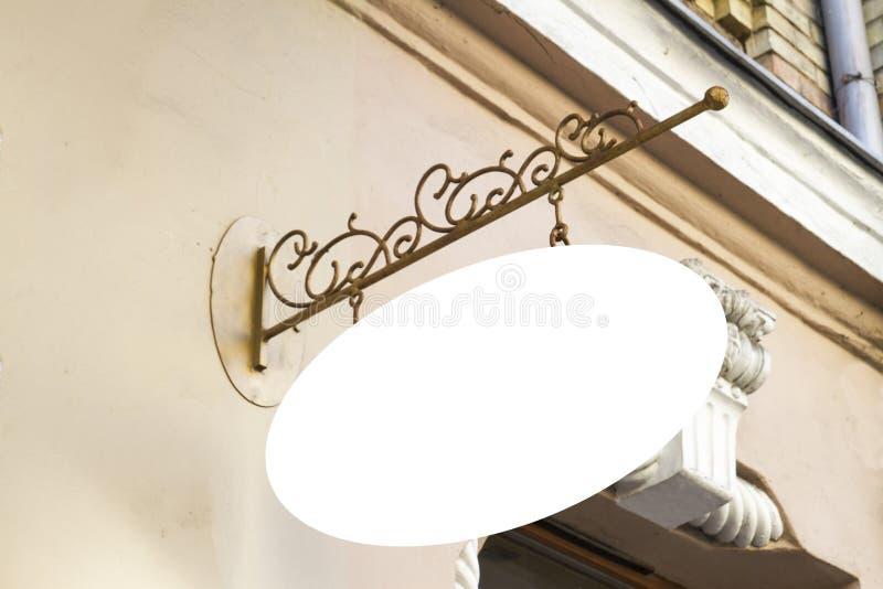 Loja do quadro indicador Zombaria acima Exposição oval do estilo do vintage da forma exterior imagem de stock