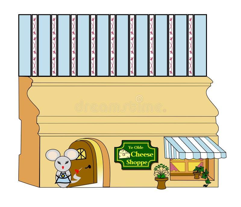 Loja do queijo do ` s de Millie Mouse ilustração stock