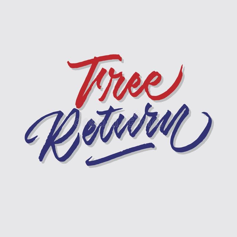 A loja do retorno livre das vendas e do mercado da tipografia da rotulação da mão armazena o cartaz do signage ilustração royalty free