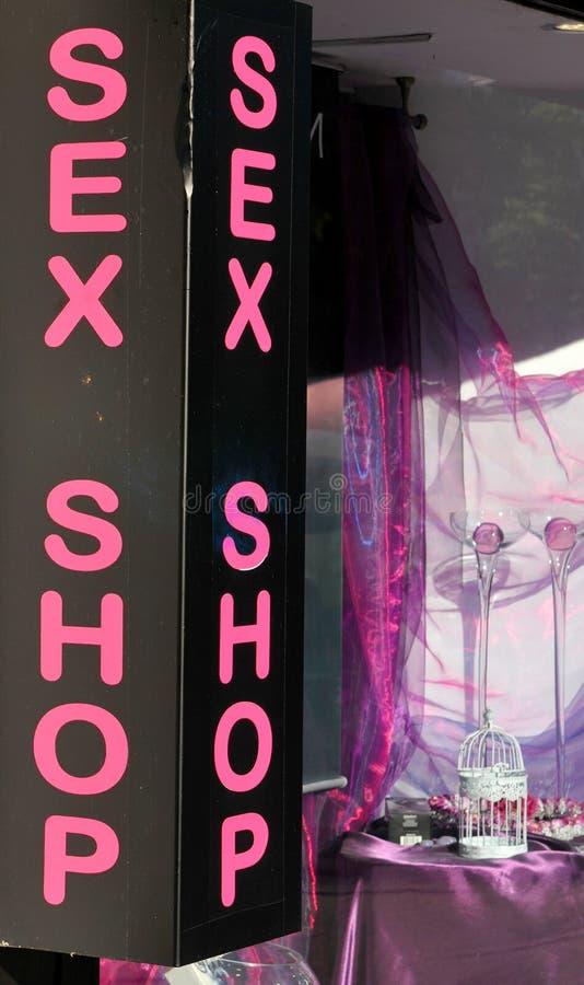 Loja do sexo foto de stock