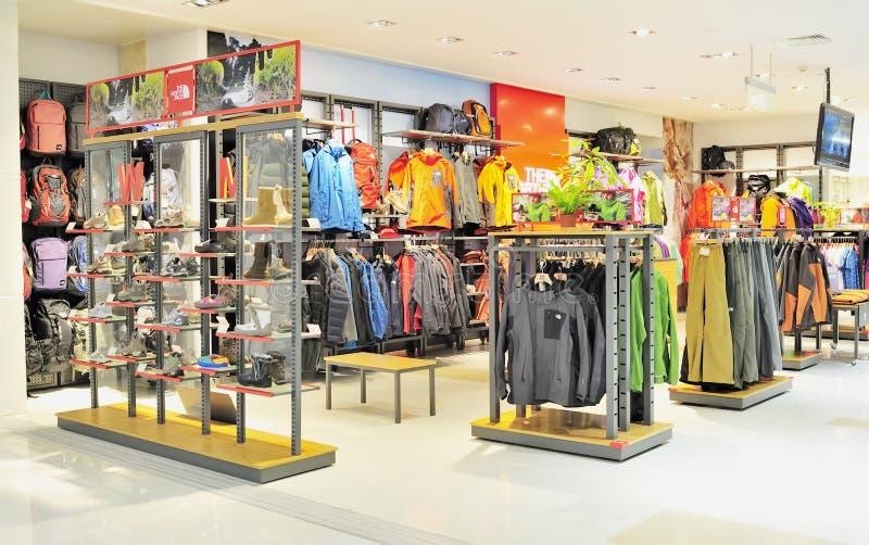 Loja do Sportswear fotos de stock royalty free