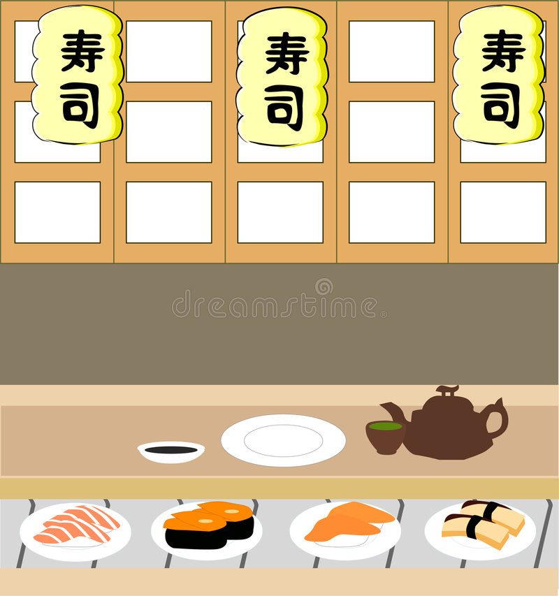 Loja do sushi fotos de stock royalty free