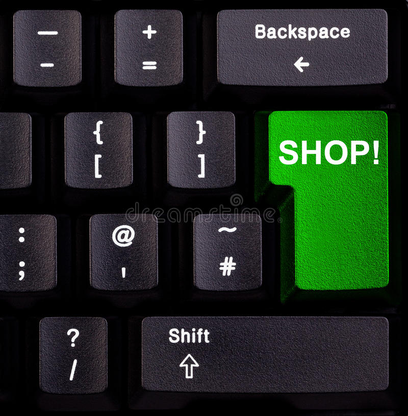 Loja do teclado imagem de stock
