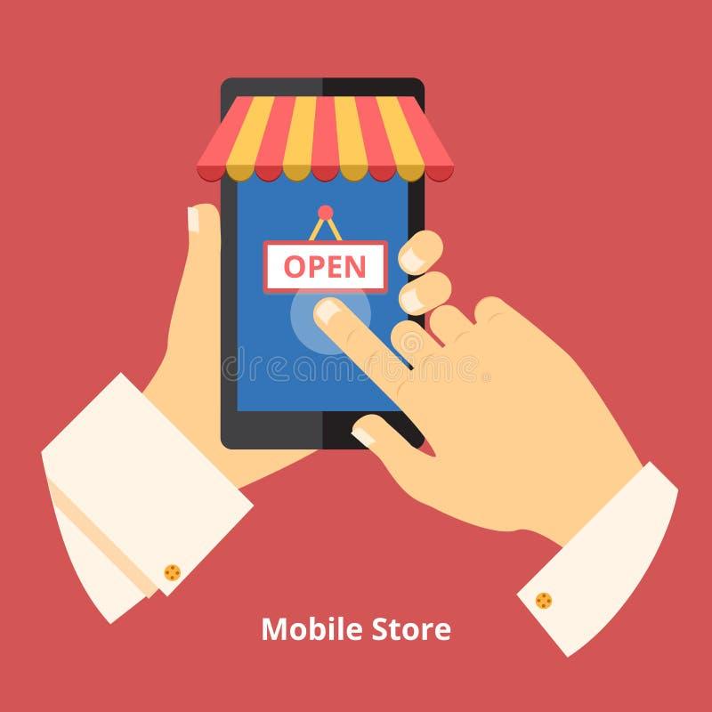 Loja do telefone celular ilustração stock