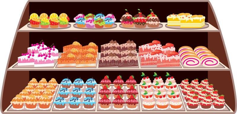 Loja doce ilustração royalty free