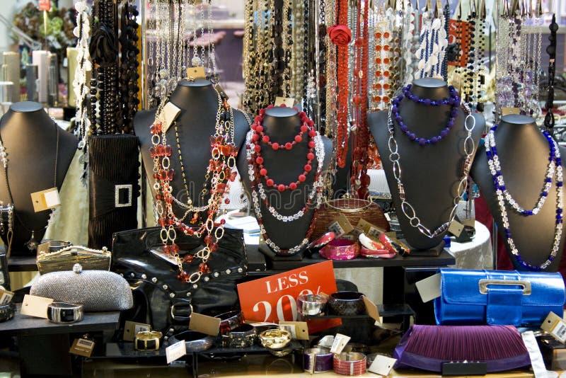 Loja dos acessórios das mulheres fotos de stock