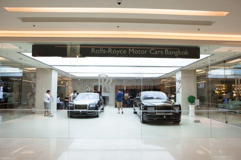 Loja dos carros de motor de Rolls royce em Banguecoque fotos de stock