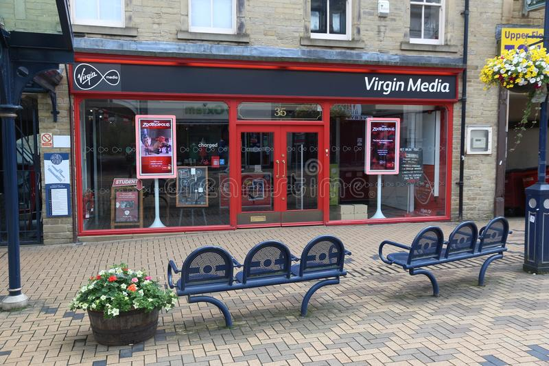 Loja dos meios de Virgin imagem de stock