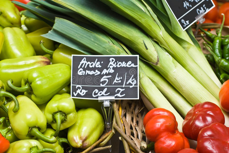 Loja dos vegetais foto de stock royalty free