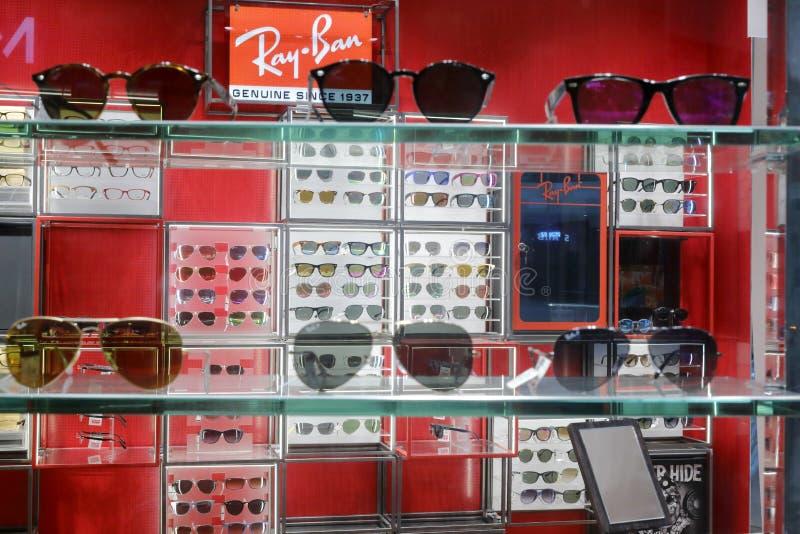 loja dos vidros da Ray-proibição foto de stock royalty free