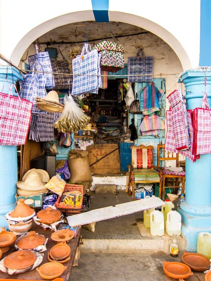 Loja em Larache, Marrocos fotos de stock royalty free