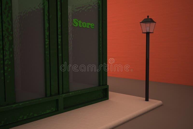 Loja em uma rua ilustração do vetor