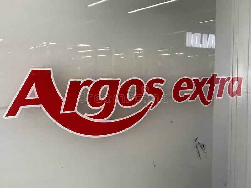 Loja extra de Argos foto de stock
