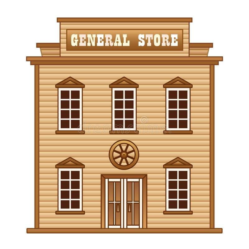 Loja geral ocidental selvagem ilustração stock