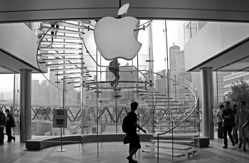 Loja Hong Kong de Apple fotos de stock