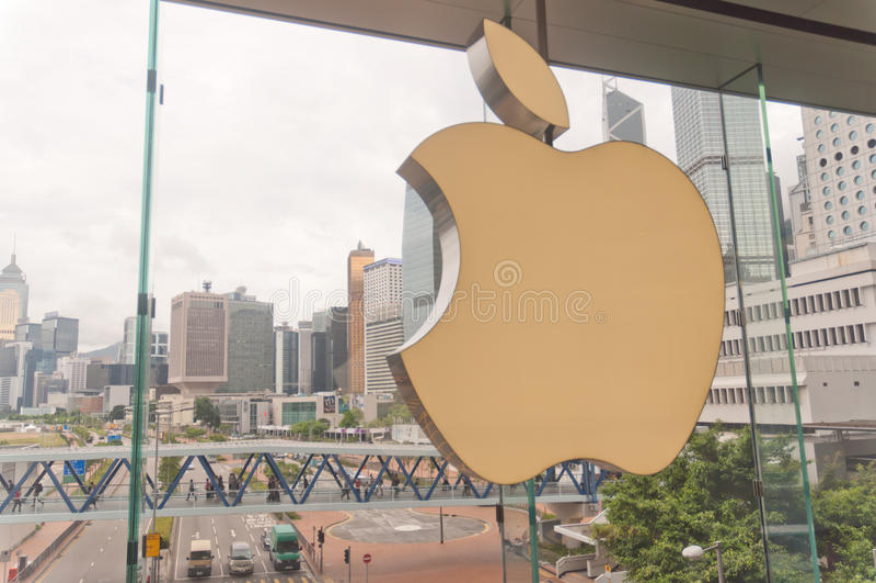 Loja Hong Kong de Apple foto de stock