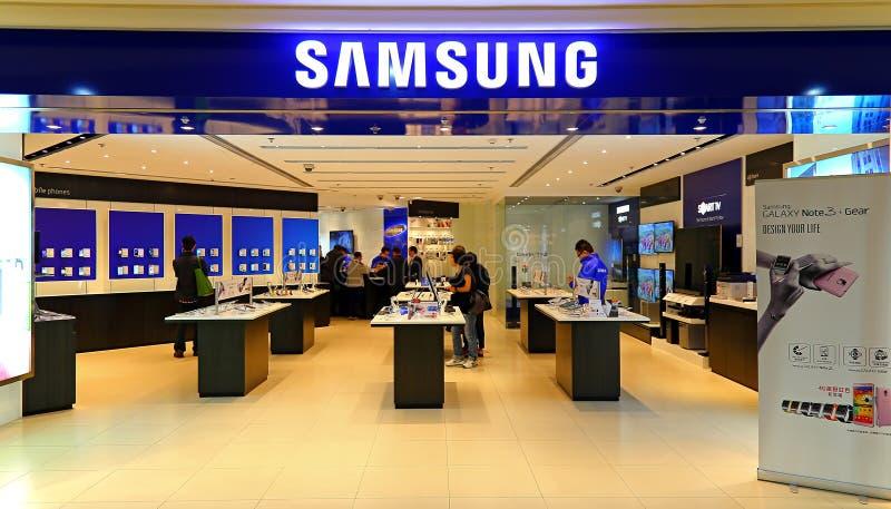 Loja Hong Kong de Samsung Electronics foto de stock