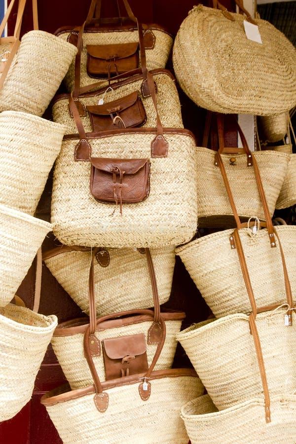 Loja Ibiza Balearic Island da cesta do Basketry fotografia de stock