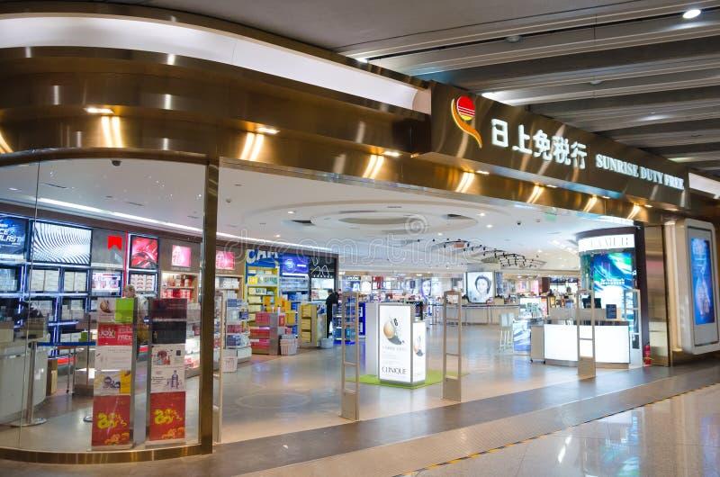 Loja isenta de direitos aduaneiros no aeroporto do Pequim fotografia de stock royalty free